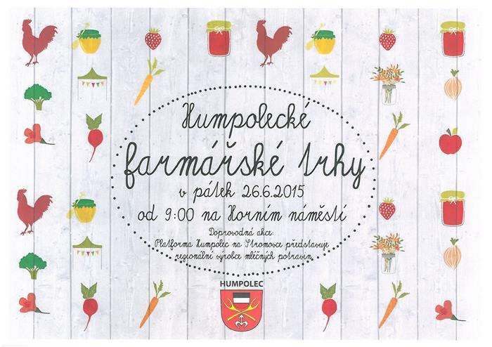 farmářské trhy - plakát červen 2015