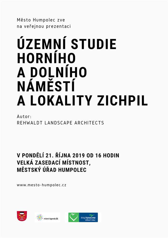 Územní studie Horního a Dolního náměstí a lokality Zichpil